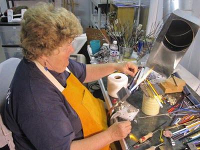 Nancy Peterson at work